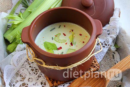 Суп из сельдерея и сыра тофу | Диетические низкокалорийные рецепты - блюда правильного питания на Dietplan.ru