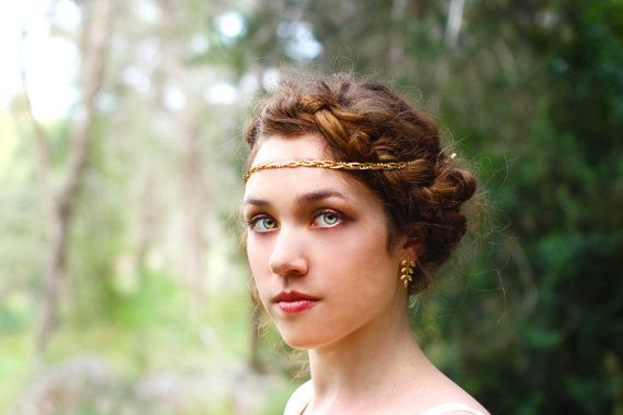 Beatrix Hair Chain, Crystal Hair Chain, Braided Headband, Braided Crystal Wreath, Bohemian Bridal Hair Accessories, Wedding Dainty Headpiece