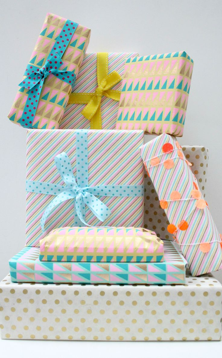Image result for colourful packaged presents
