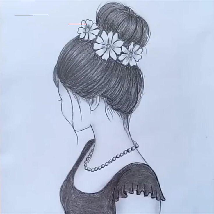 draw drawing bun hair messy sketch girly drawings simple pencil sketches easy step arte