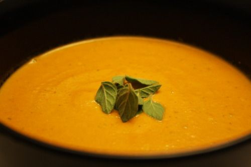 Spicy Tomato and Blue Cheese Soup