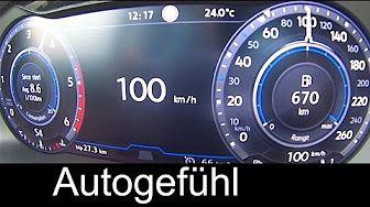 VW Volkswagen Tiguan R-Line new BiTurbo Diesel 240 hp Acceleration 0-100 km/h 0-60 mph - YouTube