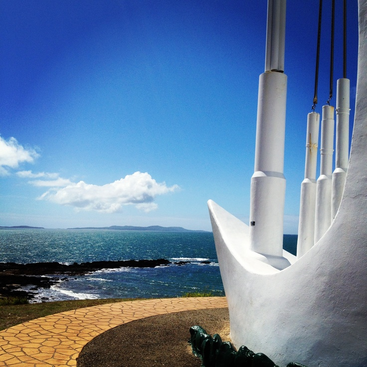 The singing ship, Emu Park - the pipes are placed so that the wind howling through makes the ship sing :)