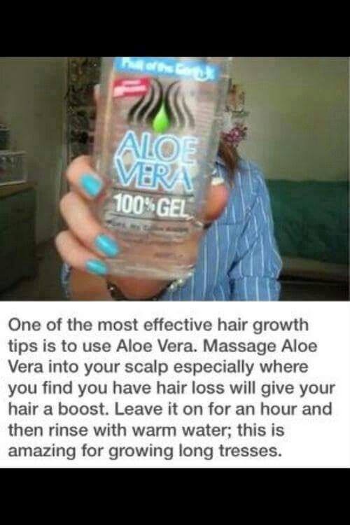 Aloe vera gel for hair growth