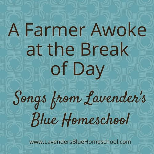 A Farmer Awoke at the Break of Day, a traditional harvest verse, set to original music for your Waldorf-inspired circle time   Lavender's Blue Homeschool