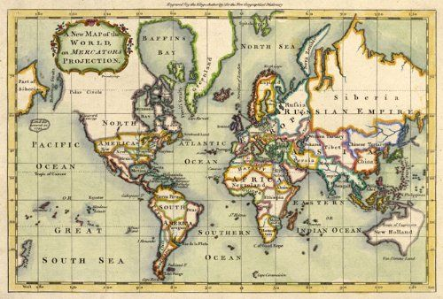48 best maps images on pinterest maps old maps and antique maps world map on mercartors projection engraved by the english cartographer prinald published in 1766 gumiabroncs Gallery