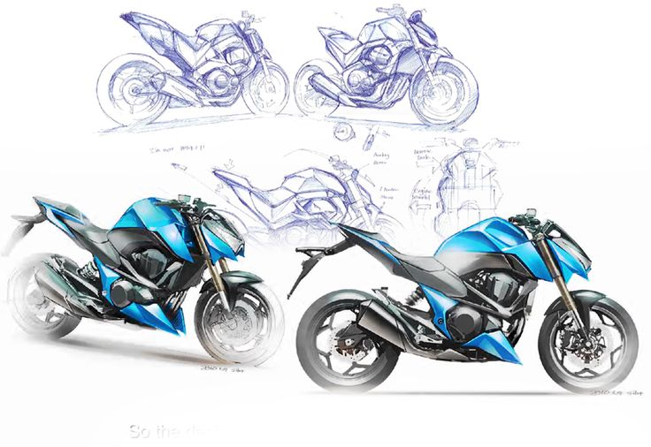 Ducati  Side View Drawing