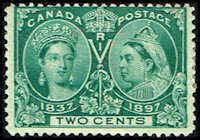 Canada #52 Stamp for sale  2 cents Diamond Jubilee Stamp  60th Year of Queen Victoria's Reign  N CA 52-1