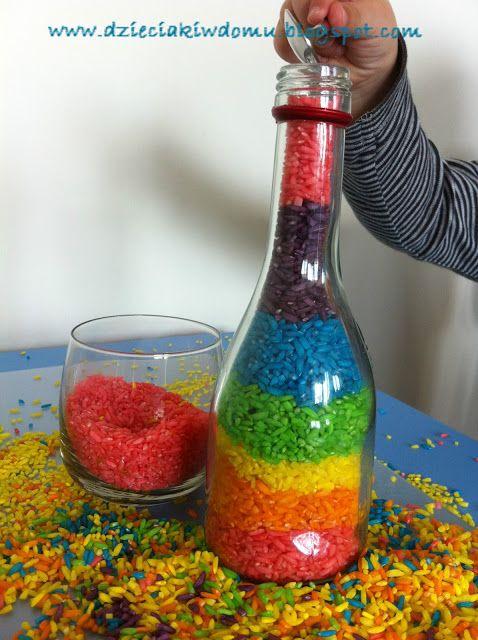 Kolorowy ryż #techniki #rozne