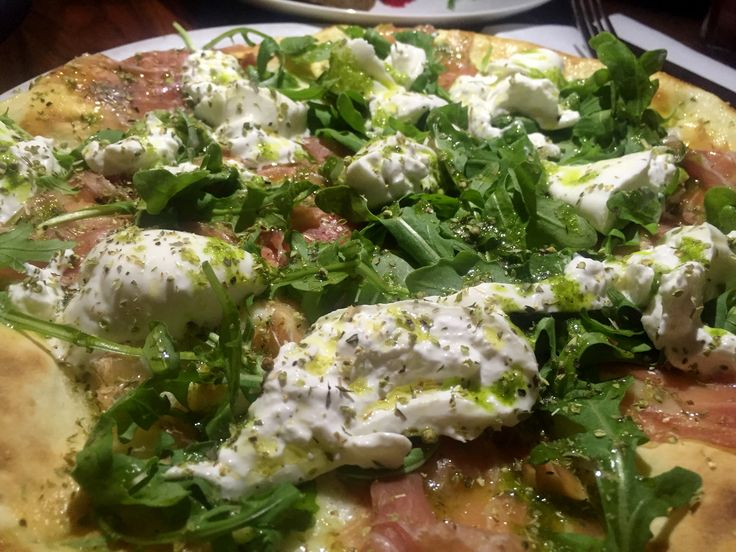 Burrata Pizza at Rosalie, Montreal