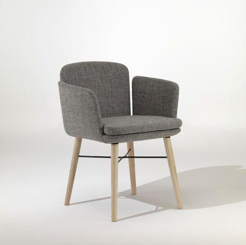 Chaise contemporaine / tapissée / avec accoudoirs / en tissu TABBY by Gordon Guillaumier  LEMA Home