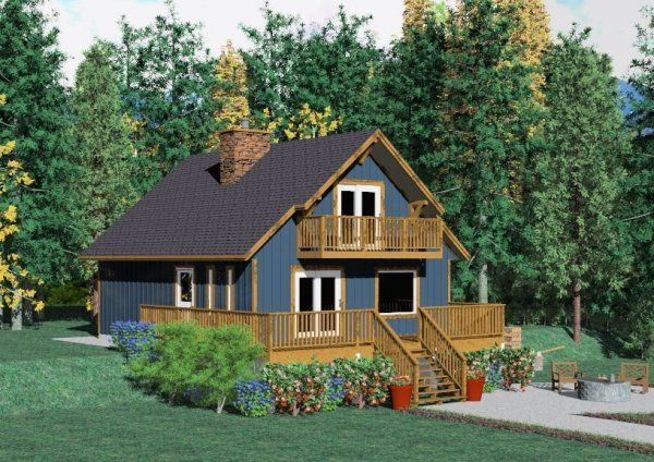 Designed by our founder back in the late 60's, this versatile chalet is designed as the prefect hideaway for two. Being among our all time best sellers, we recently updated the rendering and produced CAD drawings. House Plan No.223125  Mention code#BSELLER4 when ordering and receive 5% off.
