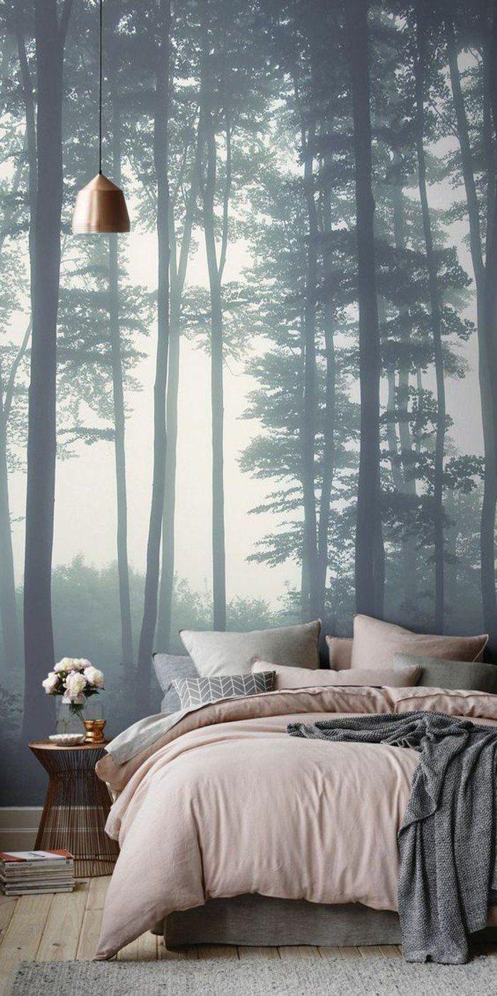 paysage mural papier peint pour chambre à coucher effet 3d