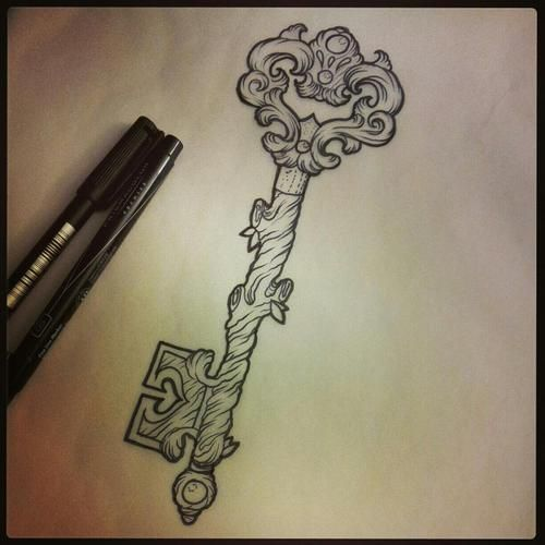 key to go with my song bird tatt. this going to be awesome, Cant wait to get it finished :D