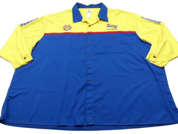 Sunoco nascar vf imagewear button down service shirt big for 6xl button down shirts
