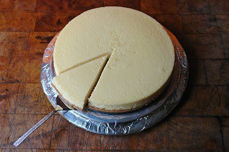 Home-made baked vanilla cheesecake | H is for Home
