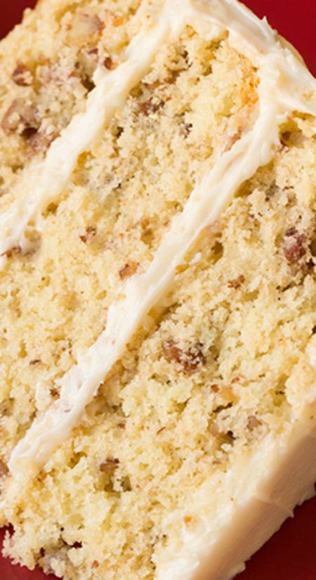 Butter Pecan Cake ~ It's brimming with buttery pecan flavor, it has a perfectly soft and tender crumb and of course it's a moist cake