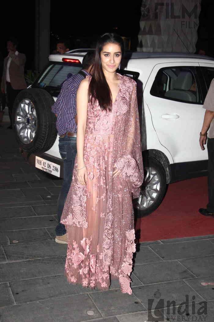Brilliant Shraddha Kapoor At TSeries Tulsi Kumar Hitesh Ralhan Grand Wedding Reception
