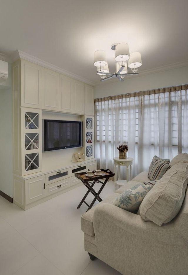wohnzimmer landhausstil weiß klassische wohnwand | Living ...