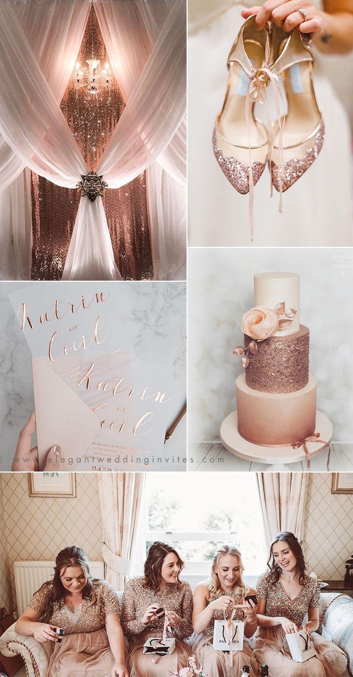 TENDANCES DU MARIAGE EN 2019: IDÉES DE MARIAGE CHIC EN OR ROSE