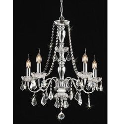 @Overstock - Chandelier will add elegance to any room in your home or office  Light fixture features clear crystal shades   Hanging lamp offers a chrome finishhttp://www.overstock.com/Home-Garden/Chrome-5-light-Crystal-Chandelier/3827512/product.html?CID=214117 $134.49