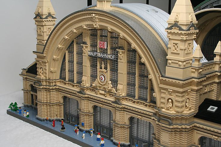 Lego Scaled Replica Of Frankfurt Central Train Station