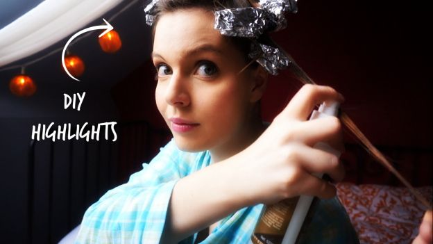 DIY Balayage Highlights with Baking soda and Hydrogen Peroxide | The Makeup Dummy