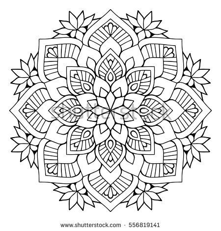 flower mandalas vintage decorative elements oriental pattern vector illustration islam arabic flower mandalacoloring book