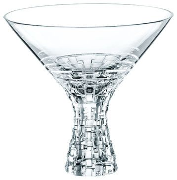 Nachtmann Dancing Stars Bossa Nova Martini 12 oz, Set of 2 - contemporary - cups and glassware - Masins Furniture
