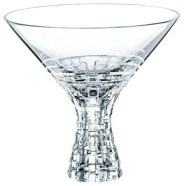 Nachtmann Dancing Stars Bossa Nova Martini Glasses, Set of 2 contemporary-cups-and-glassware