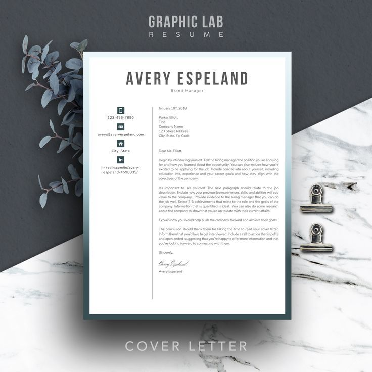 Matching designer resume and cover letter templates