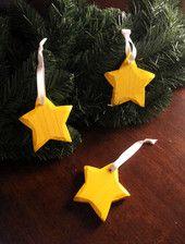 Tähti - puinen - keltainen | HilleRin  Sopii niin jouluun kuin sisustukseenkin