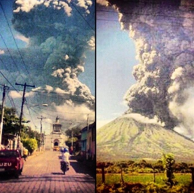San Cristobal Volcano erupting !  Chichigalpa, Nicaragua. God be with my family ❤