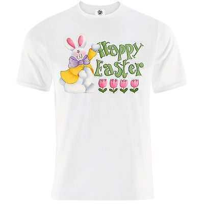 """Mens """"happy #easter"""" eggs bunny hunt t-shirt - chocolate, #lent, #celebration,gif, View more on the LINK: http://www.zeppy.io/product/gb/2/222150961805/"""