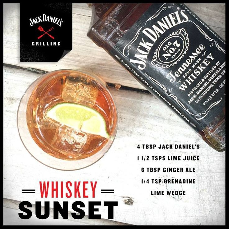 Sunset with Jack Daniels