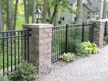 Backyard Patio Fence With Posts And Accent Lighting Contemporary Landscape