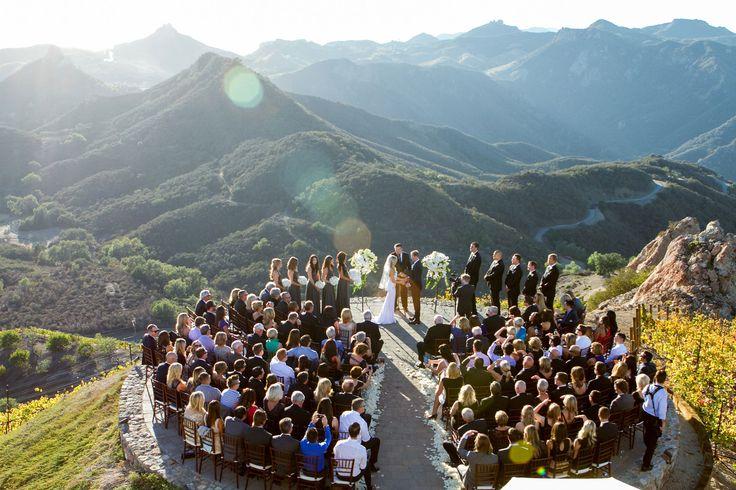 How to Throw a Wedding in a Non-Traditional Space mountaintop wedding