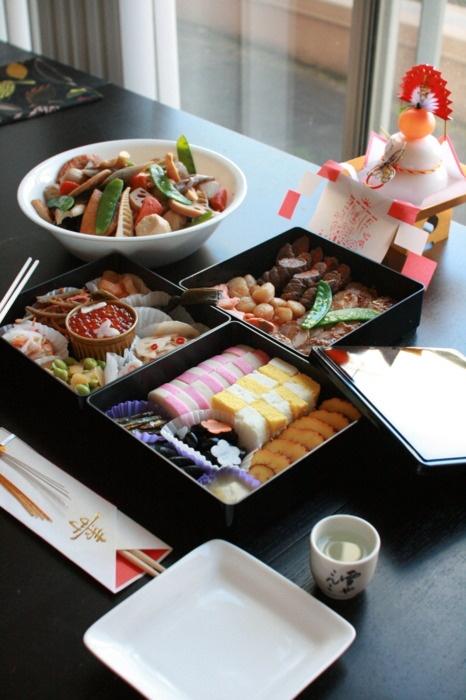 YOKO's homemade Osechi Ryori(お節料理), Japanese traditional new year celebration dishes. 2011. California, USA.