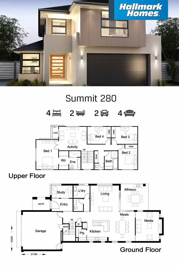 Home Designs Floor Plans Hallmark Homes Modern Style House Plans Two Story House Design Home Design Floor Plans