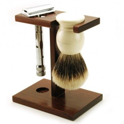 Just the organization you need for your bathroom counter! The oh-so-classic Hart Steel Artisan Razor and Brush stand