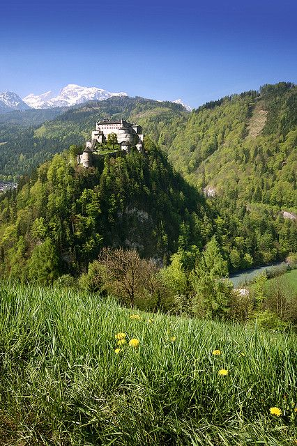 Hohenwerfen Castle, about 28 miles south of the city of Salzburg, Austria #feelaustria