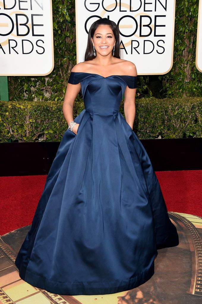Gina Rodriguez had an incredible night at the 2016 Golden Globe Awards at The Beverly Hilton in Beverly Hills. The Jane the Virgin star started the night by getting ready with her date, her dad, Genaro, later being one of the first to walk the red carpet in a gorgeous Zac Posen gown, and though she didn't score a win in the category for best actress in a TV musical or comedy like she did last year, she still had lots of fun at the show.