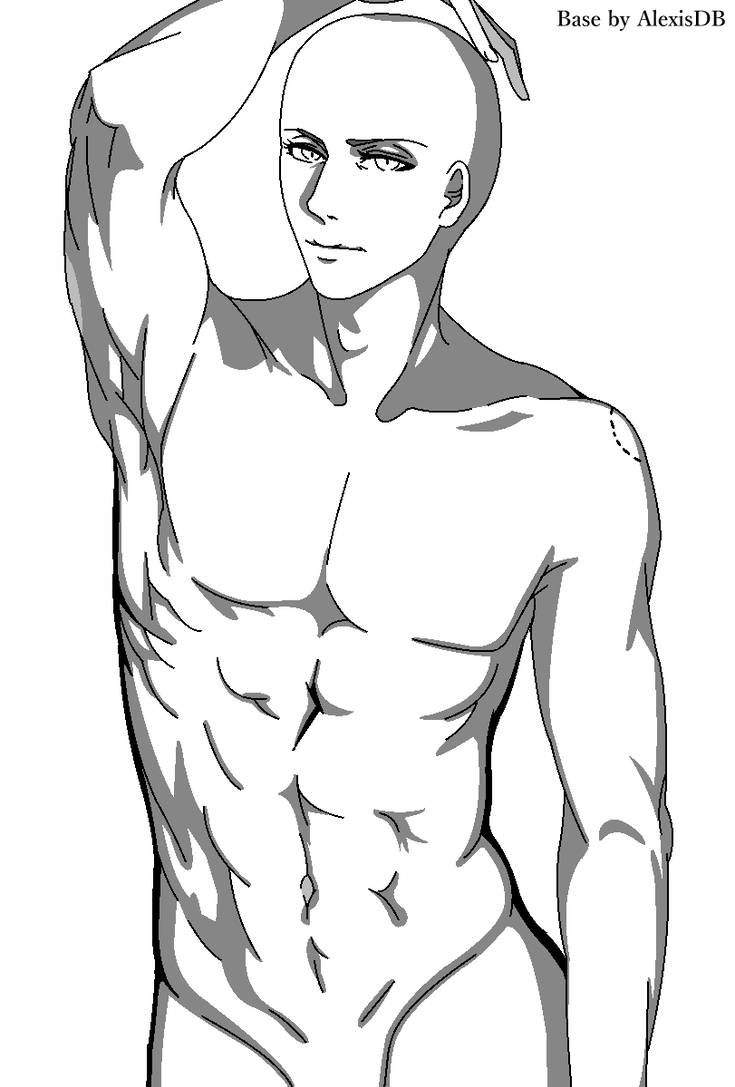 Last night was... [Male base 2] [Black and White] by
