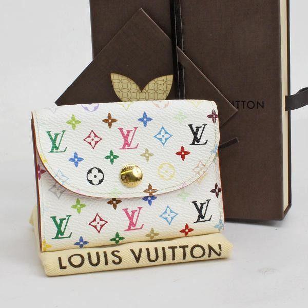 Louis Vuitton Enveloppe Cartes De Visite  Monogram Multicolor Other White Canvas…