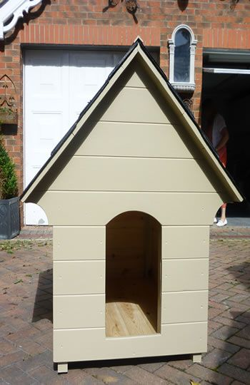 We Sell A Wide Range Of Bespoke Garden Products Including Birdtables, Dovecotes and Dog Kennels. Pictured Is Our Bespoke Wooden Dog Kennel Handmade And Painted With The Famous F&B Paint. Visit www.robinsongarden.co.uk