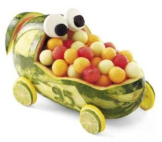 watermelon go kart - it even has my son's go kart number on it.  Cute!!!!