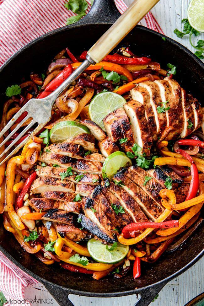 Skillet Chicken Fajitas Recipe on Yummly. @yummly #recipe