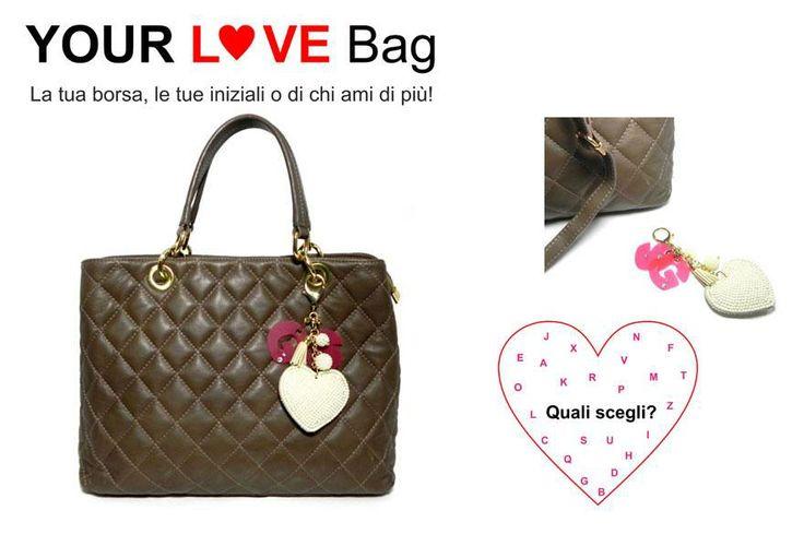 YOUR LOVE BAG  la tua borsa con le tue iniziali e di chi ami di più #moda #millenniumstar #madeinitaly #fashion #cool
