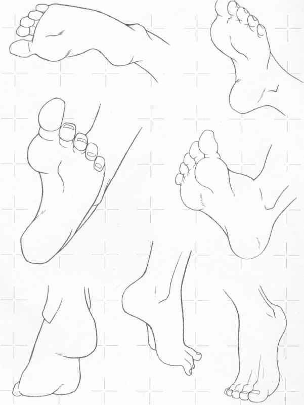 drawing feet  || CHARACTER DESIGN REFERENCES | Find more at https://www.facebook.com/CharacterDesignReferences: