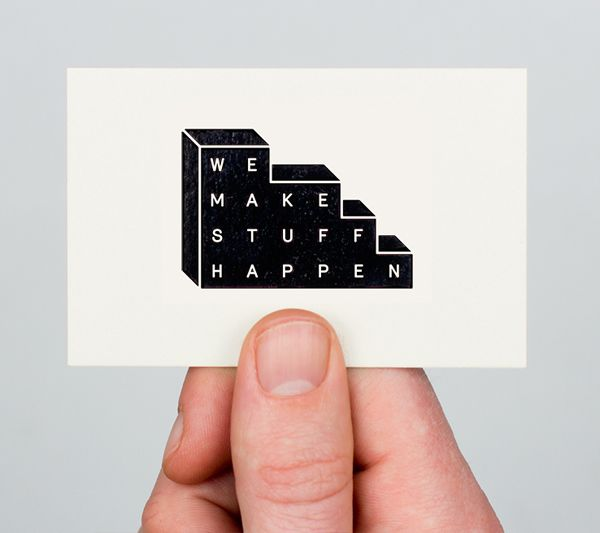 We Make Stuff Happen - Logo and business card design by Maddison Graphic